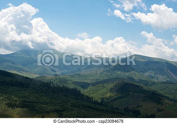 Landscape in the Ukrainian Carpathians - csp23084678