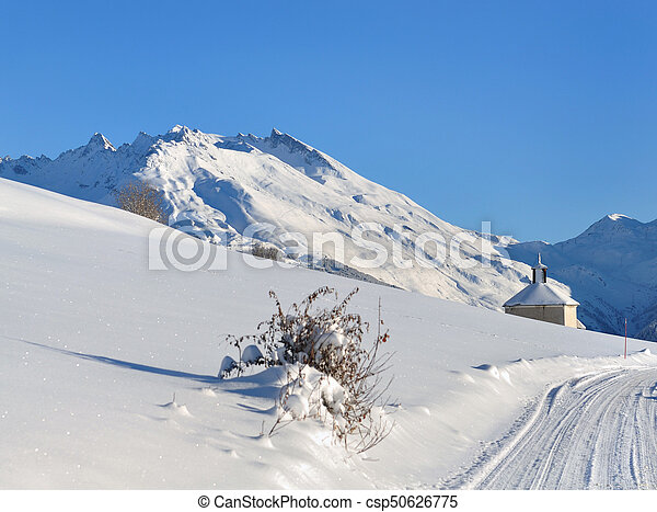 landscape in winter - csp50626775