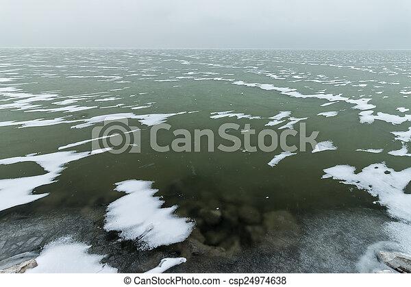 Landscape in winter - csp24974638