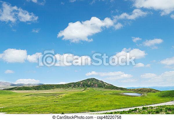 landscape of Aso area - csp48220758