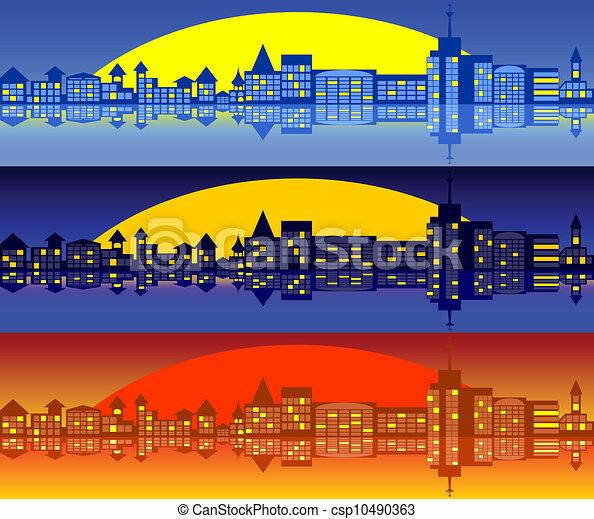 Landscape of city. Set - csp10490363