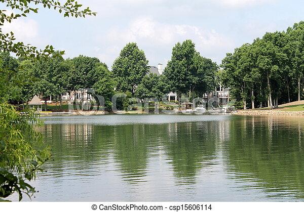 landscape of lake - csp15606114
