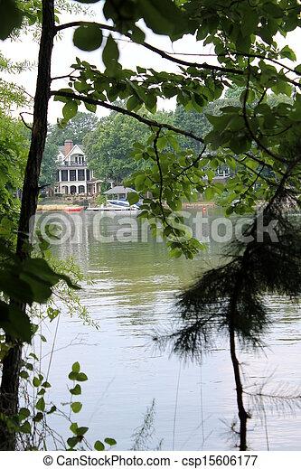 landscape of lake - csp15606177