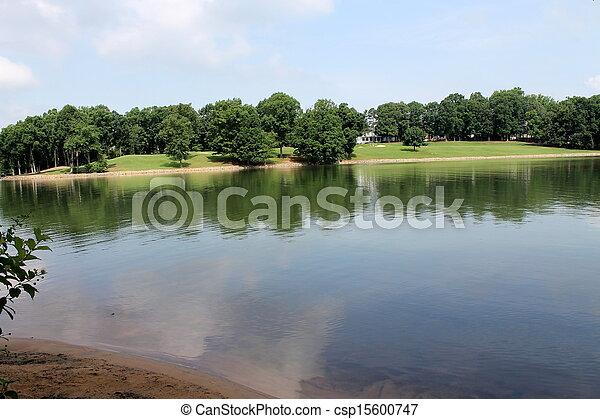 landscape of lake - csp15600747