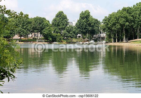 landscape of lake - csp15606122