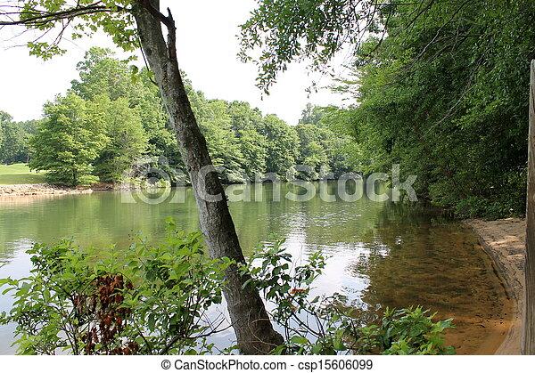 landscape of lake - csp15606099