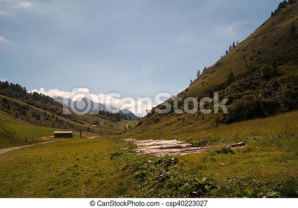 Landscape of mountain alps - csp40223027