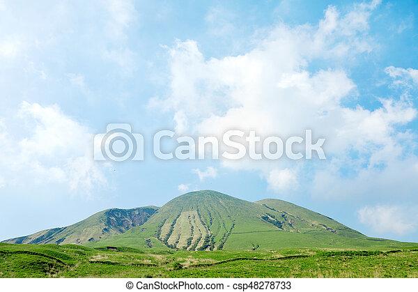 landscape of  Ojodake mountain, Aso area in Japan - csp48278733