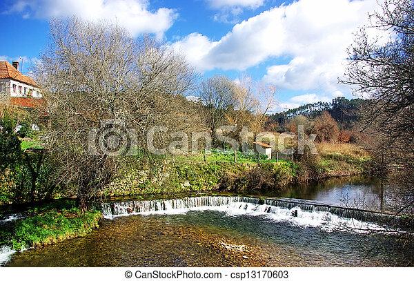 Landscape of portuguese river on winter - csp13170603