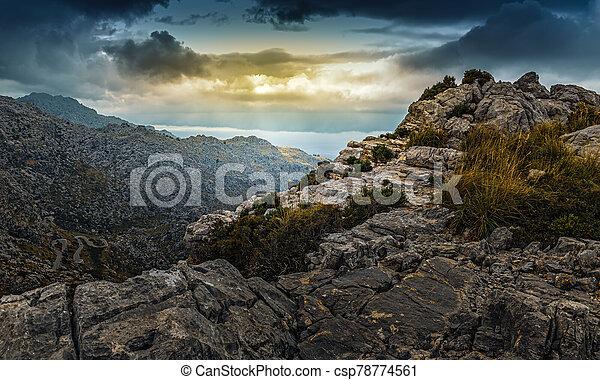 landscape of Sierra de Tramuntana, Mallorca, Spain - csp78774561