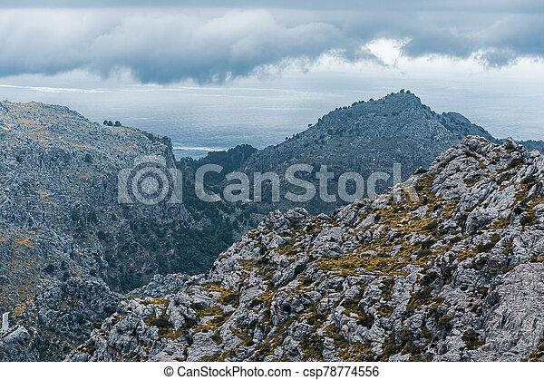 landscape of Sierra de Tramuntana, Mallorca, Spain - csp78774556