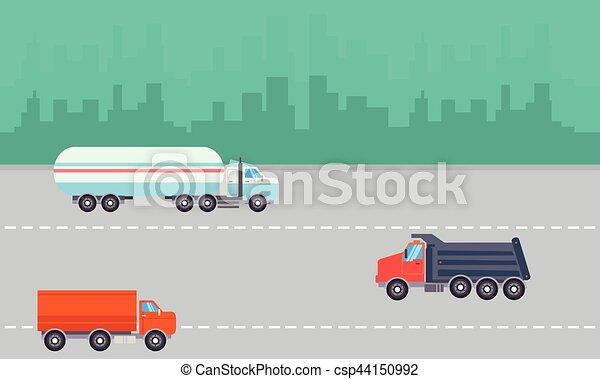 Landscape of transportation on the road - csp44150992