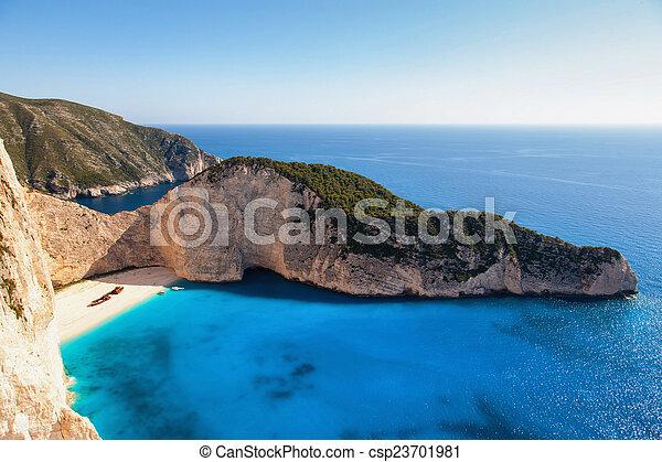 landscape of zante island  - csp23701981