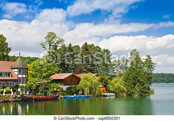 Landscape on a lake in Germany. - csp6850301