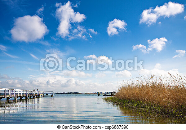 Landscape on a lake in Germany. - csp6887390