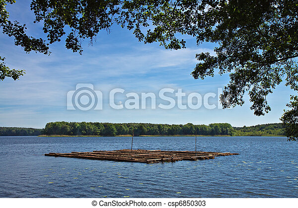 Landscape on a lake in Germany. - csp6850303