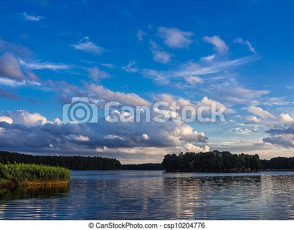 Landscape on a lake. - csp10204776