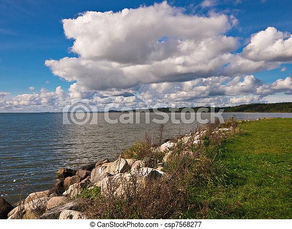Landscape on a lake. - csp7568277