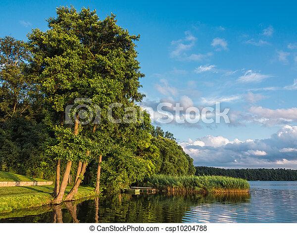 Landscape on a lake. - csp10204788