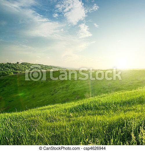 landscape on sunset - csp4626944