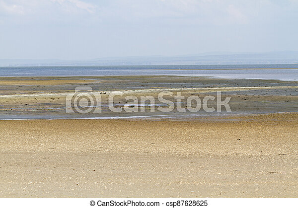 Landscape on the coast of the Black sea, Anapa - csp87628625