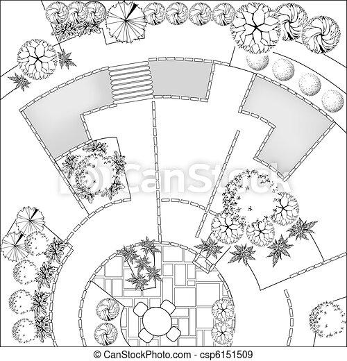 Landscape plan - csp6151509