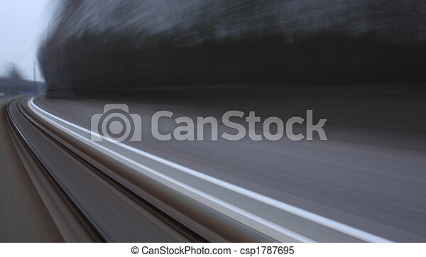 Landscape Seen From A Fast Moving Train Motion Blurred Canstock