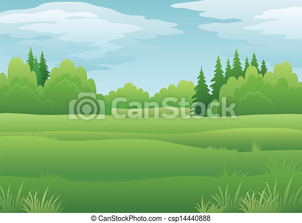 Landscape, summer forest - csp14440888