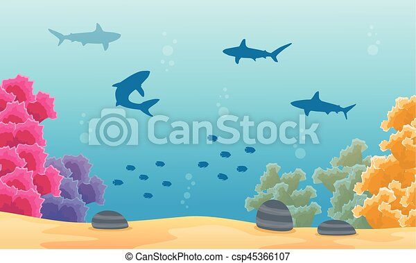 Beautiful Coral Reefs Drawings