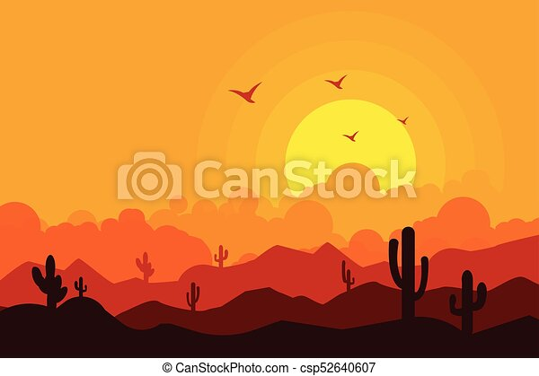 Landscape vector illustration background - csp52640607