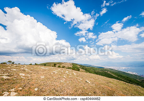 Landscape view from mountains to the Sea of Marmara - csp40444462