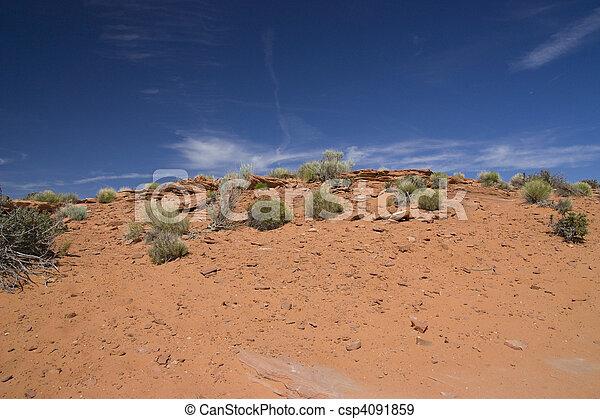 landscape view of the arizona desert in USA - csp4091859