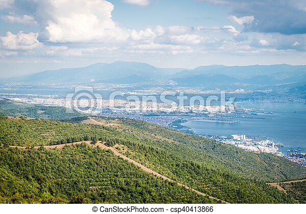 Landscape view to the Sea of Marmara and Derice in Turkey - csp40413866