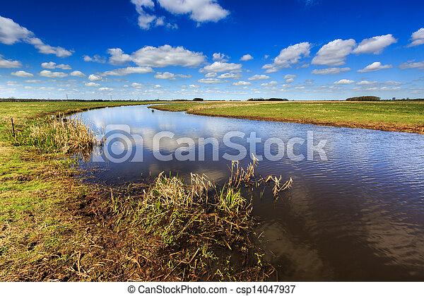 Landscape with beautiful cloudscape - csp14047937