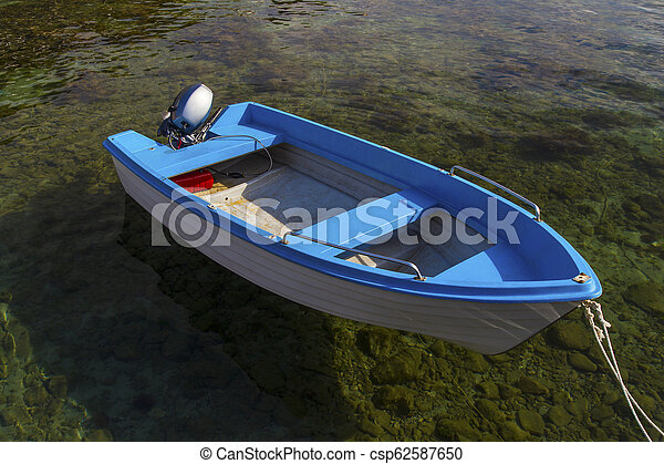 Landscape with boat in the sea - csp62587650