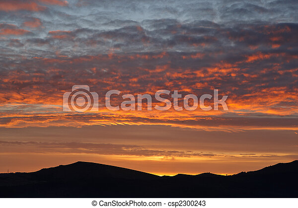 Landscape with cloudy sky - csp2300243