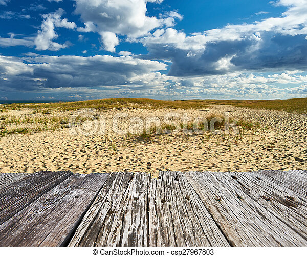 Landscape with sand dunes at Cape Cod - csp27967803