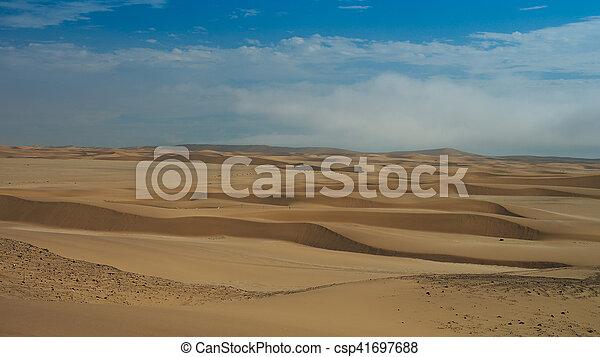 Landscape with sand dunes near Swakopmund, Namibia - csp41697688