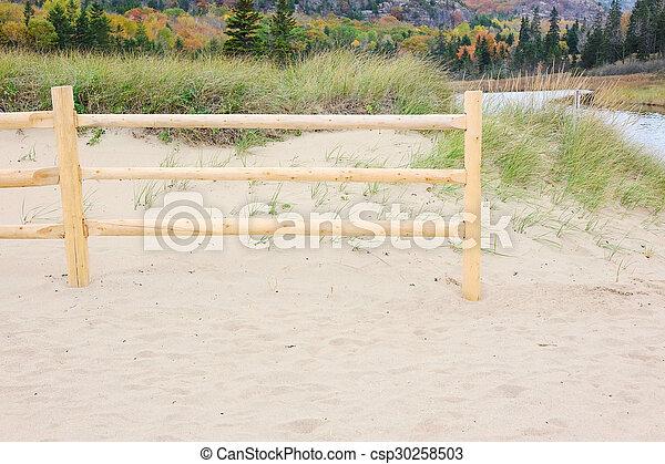 Landscape with sand dunes - csp30258503