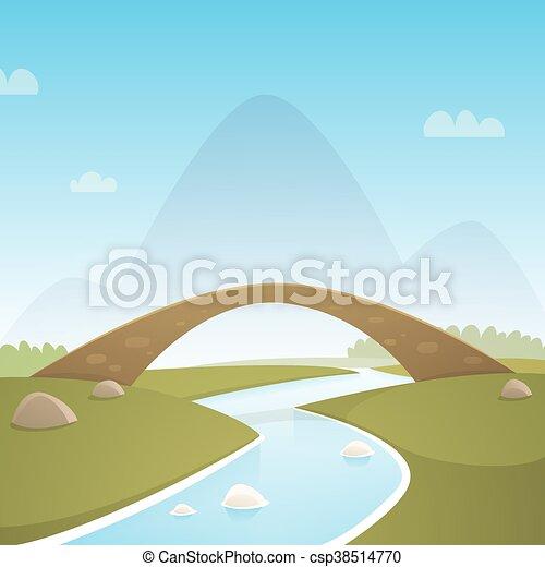 Landscape With Stone Bridge - csp38514770