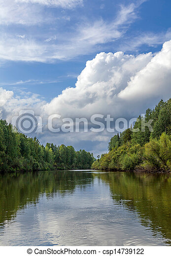 Landscape with the river  - csp14739122