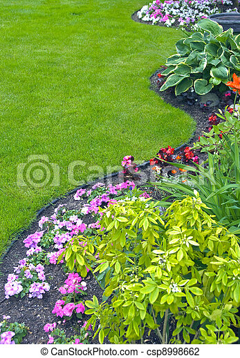 Landscaped Yard and Garden - csp8998662
