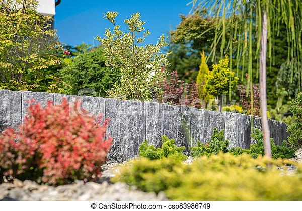 Landscaping Design Of Residential Garden. - csp83986749
