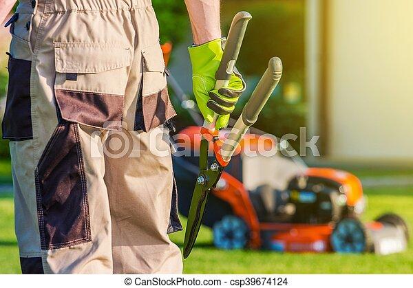 Landscaping Professional - csp39674124