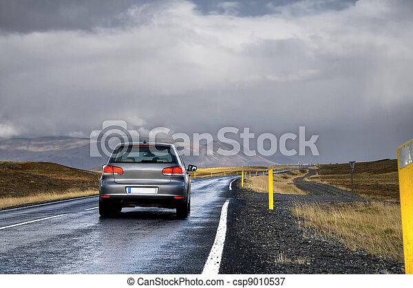 landschaft, auto, straße - csp9010537