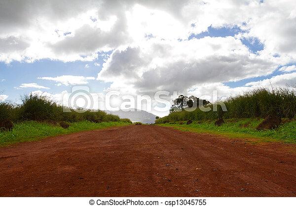 landschaftlich, lange straße, schmutz - csp13045755