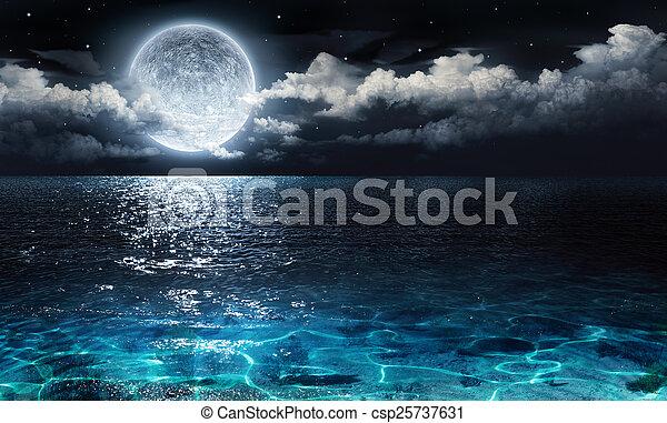 landschaftlich, romantische , panorama - csp25737631