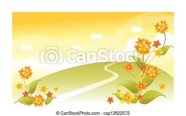 landschaftsbild, grün - csp12822572
