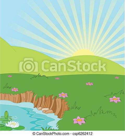 Sommerlandschaft - csp6262412