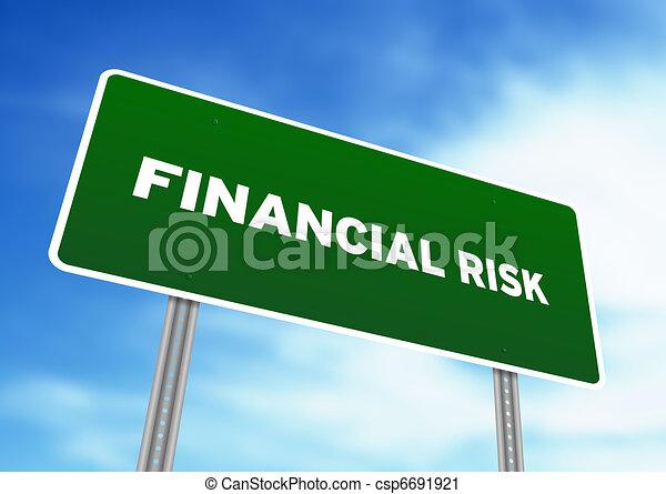 Finanzrisiko-Straßenschild - csp6691921